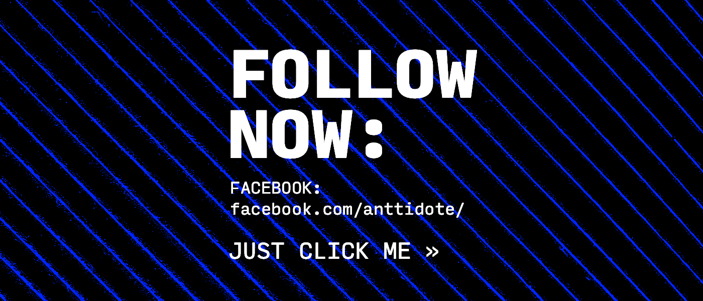 Anttidote - Follow on Facebook
